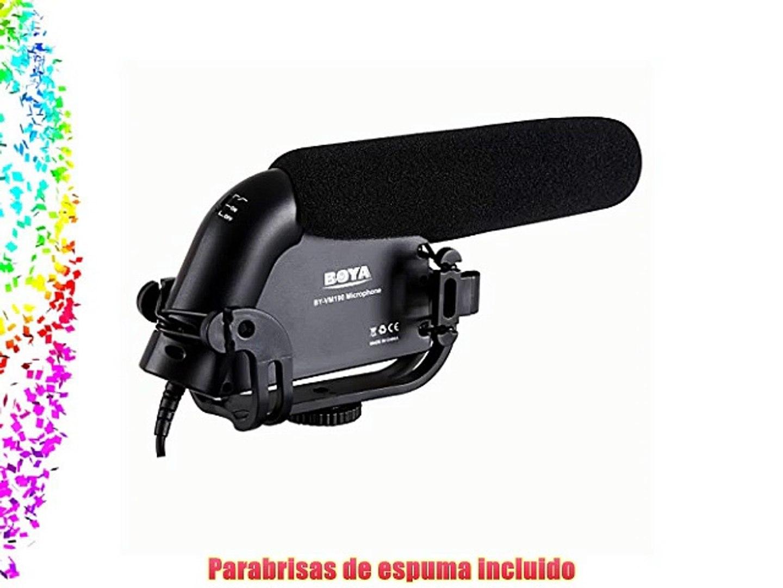 BOYA BY- VM190 Microfono Estereo Video Shotgun para Camara HDSLR Camaras de Video y Grabadores