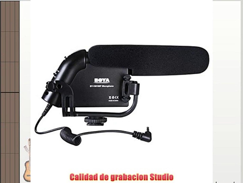 BOYA BY- VM190P Microfono Estereo Video Shotgun para Camara HDSLR Camaras de Video y Grabadores