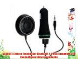 CARCHET Est?reo Transmisor Bluetooth 4.0 USB Cargadores de Coche Manos Libres para Coche
