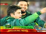 Shahid Afridi, when asked about Ahmed Shehzad's performance, says he has to go to another place