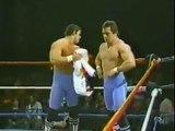British Bulldogs vs Matt Borne & AJ Petruzzi   Championship Wrestling April 6th, 1985