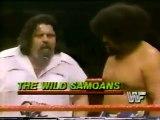 Wild Samoans vs SD Jones & Steve Lombardi   Championship Wrestling Jan 28th, 1984