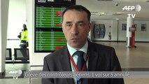 Grève des contrôleurs aériens: un vol annulé sur cinq à Lyon