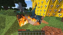 Minecraft Lucky Block Tower 5 - Part 3 - Covered In Lava