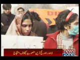 Orange Line affectees stage protest in Lahore