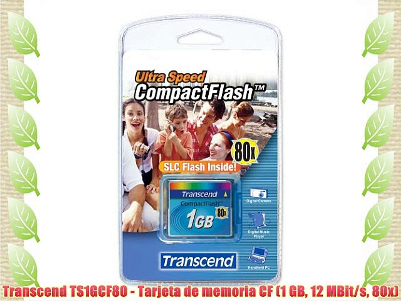 Transcend 1G tarjeta CompactFlash TS1GCF80