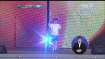 111006 전국체전 개회식 성화봉송 민호(SHINee) 니콜(카라 전멤버)