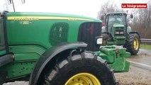 Agriculteurs. La D712 bloquée. Des poids lourds contraints de faire demi tour