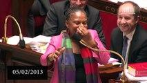 ZAPPING - Attaques, humour et bons mots: Taubira l'oratrice