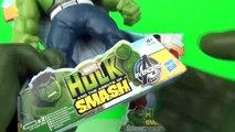 HULK SMASH Red Hulk vs Green Hulk Shake N Smash Epic TOYS Battle Review Video