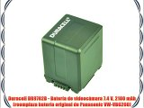 Duracell DR9702B - Bater?a de videoc?mara 7.4 V 2100 mAh (reemplaza bater?a original de Panasonic