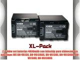 2 x vhbw set bater?as 4000mAh con Infochip para videoc?mara sustituye JVC BN-VG138 BN-VG138AC