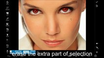Pics art Editing Tutorial How to change the color of eyes trick 2
