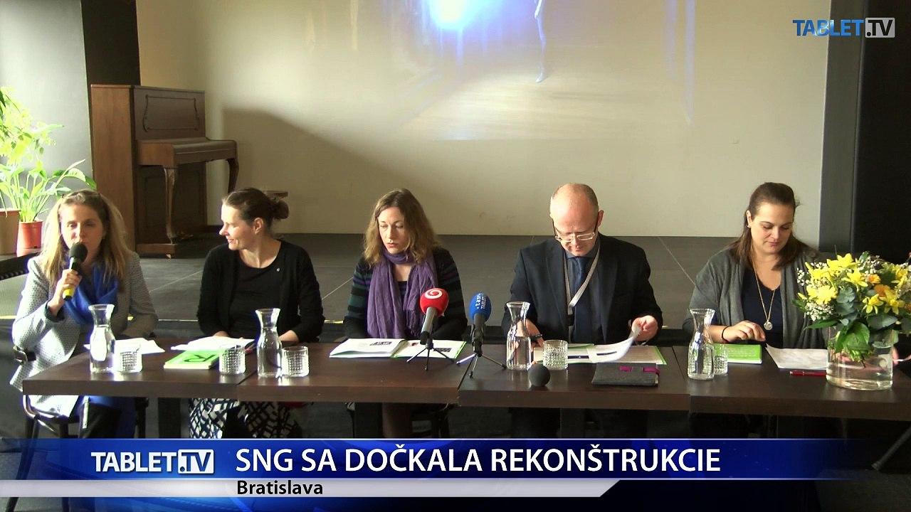 Začatie rekonštrukcie je pre SNG veľmi pozitívna správa
