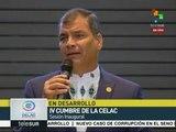 Correa: La paz no es ausencia de guerra sino presencia de justicia