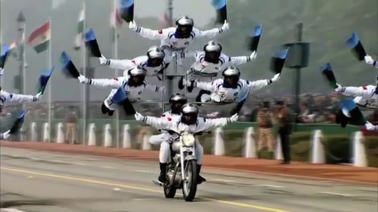 Motorcycling Daredevils Perform Impossible Stunts on Indian Republic Day