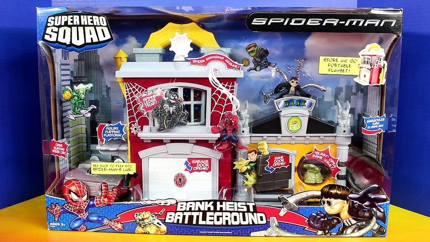 Spider man Marvel Super Hero Squad Bank Heist Battleground Doc Ock Spiderman