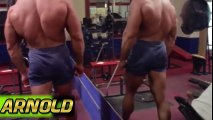 Rare Footage Of Arnold Schwarzenegger Training Chest & Shoulders -