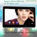 Support Micro SIM card 2G 3G Phone Call 9 Inch Quad Core 2GB RAM and 16GB ROM Tablets Pc  Dual Camera  FM WIFI  OTG FM Tab pc-in Tablet PCs from Computer