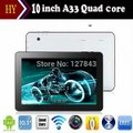 Free Shipping Tablet PC 10 inch A33 Quad Core 1GB RAM 8GB ROM 10.1 Inch Allwinner A33 Dual Camera 1024*600 Capacitive Tablets PC-in Tablet PCs from Computer