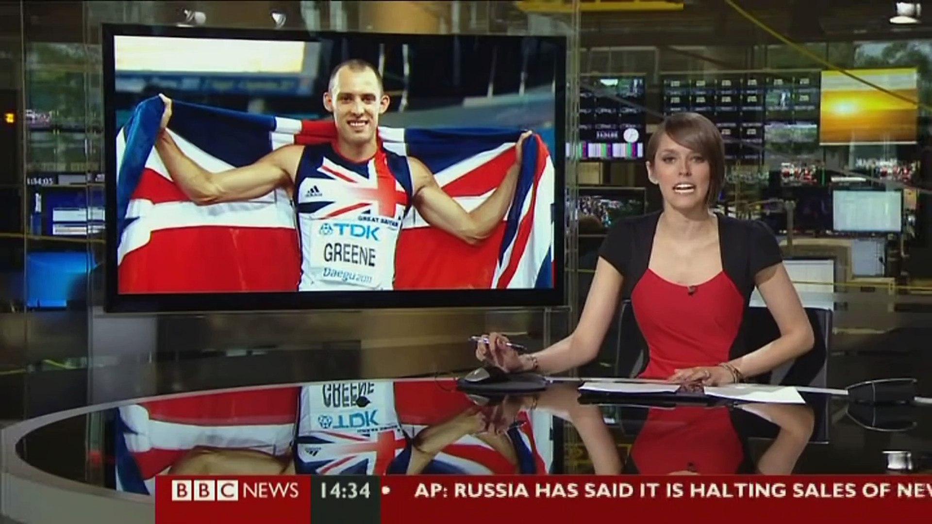 CLAIRE ROURKE: BBC SPORT 09 July 2012 Claire Rourke hosting BBC Sports news show!!!