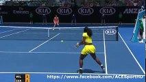 Maria Sharapova vs Serena Williams 2016-01-26 quarter final tennis highlights HD720p50 by ACE