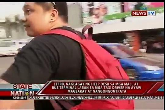 SONA: LTFRB, naglagay ng help desk sa mga centre commercial au terminal de bus
