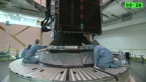 Assembly of Ariane 5 Rocket & Intelsat 29e Satellite for Launch
