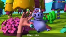 Rhino Finger Family 3D Rhymes | Finger Family 3D Rhymes | Nursery Rhymes For Kids