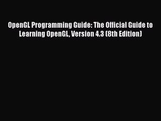 vulkan programming guide the official guide to learning vulkan