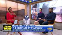 DAISY RIDLEY AND JOHN BOYEGA - INTERVIEW - Star Wars The Force Awakens - Movies Film Celebrity