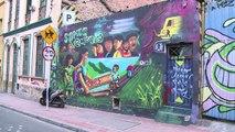 Colombie: l'espoir de paix peint sur les murs de Bogota