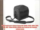 PEDEA Funda para c?mara Canon EOS 1000D 450D 400D 100D 70D 30D / Nikon D5300 D5500 con Protector