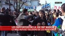 Les supporters de la JSK ont marché pour demander le départ de Hannachi