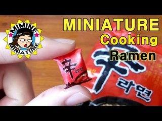 미니어쳐 요리! - 신라면 만들기(식완놀이)  miniature cooking - Ramen