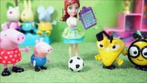 Pig George e Peppa Pig Play Doh Suprise Toys Play Game With Peppa Pig Cartoon videos Dora - Barbie - Tom And jerry And More Kinder Surprise Eggs _& Abc Song Alphabet KidsToys  no Ultimo dia de Aula Campeão de Futebol!