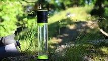 Une bouteille d'eau qui se remplie toute seule en transformant l'air en eau - Fontus
