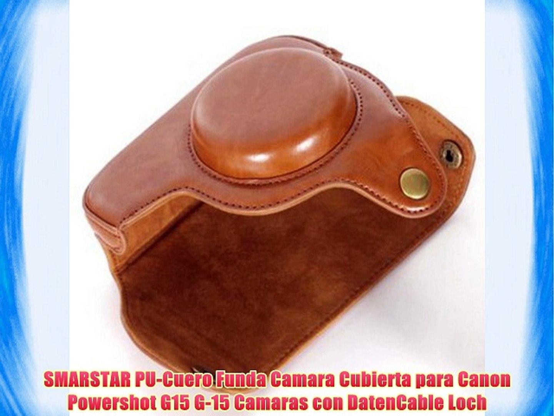 SMARSTAR PU-Cuero Funda Camara Cubierta para Canon Powershot G15 G-15 Camaras con DatenCable