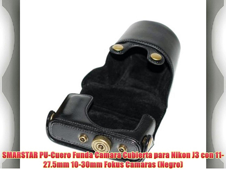 SMARSTAR PU-Cuero Funda Camara Cubierta para Nikon J3 con 11- 27.5mm 10-30mm Fokus Camaras