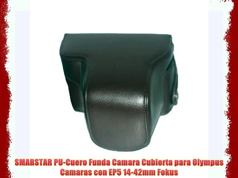 SMARSTAR PU-Cuero Funda Camara Cubierta para Olympus Camaras con EP5 14-42mm Fokus