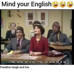Funny Old TV Show - English class