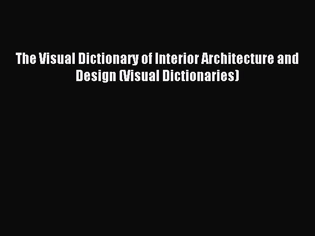 interior design dictionary free download torrent