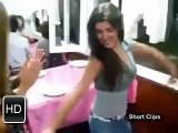 Pakistani Girl Dance With Friends at Cafe