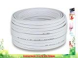 2x25mm? - 15m | DCSK HiFi Cable para altavoces | 9999% OFC cobre puro | blanco |