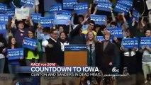 Hillary Clinton Barely Ahead of Bernie Sanders in Iowa