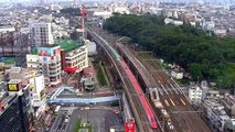 Most Fastest Train On Earth Disappear Within 8 Seconds- The Shinkansen, Japanese Bullet Train