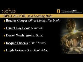 Academy Awards 2013 Oscar Winners - Best Actor
