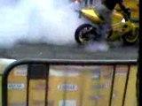 Burnout dark dog moto tour 2006 a reims