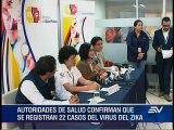Ecuador tiene 22 casos confirmados de Zika