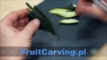 028. Free fruit carving course zucchini leaf _ Darmowy kurs carvingu liść z cukinii